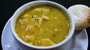 Español: Sopa de mondongo. Restaurante Chócolo...