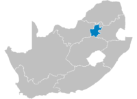 Location of Gauteng.