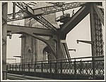 South end of the arch Sydney Harbour Bridge looking west, 1932 (8283744738).jpg