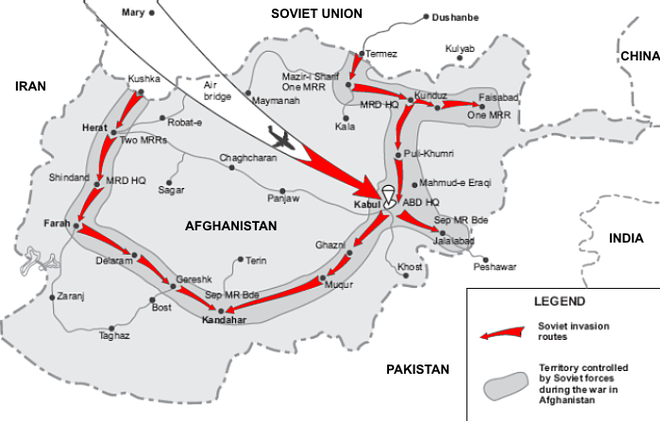 The Soviet intervention SovietInvasionAfghanistanMap.png