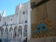 An Invader mosaic seen in Avignon.