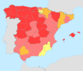 Spain total fertility rate by region 2014.png