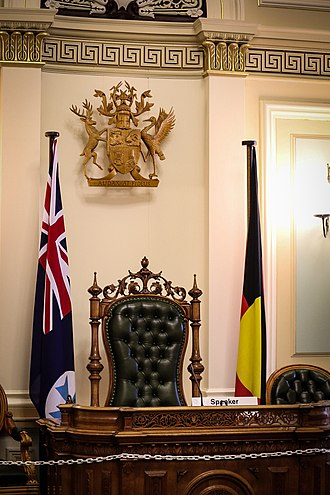Parliament of Queensland - The Speaker's Chair in the Legislative Assembly