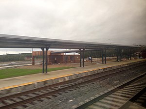 Spotsylvania station - Spotsylvania station under construction in October 2015