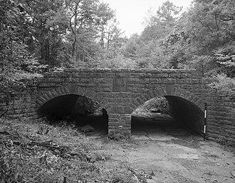 Belleville, Arkansas - The Spring Lake Bridge north of Belleville is listed on the National Register of Historic Places