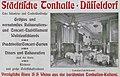 Städtische Tonhalle - Düsseldorf, Tonhallen-Café-Restaurant, Ecke Schadow- und Tonhallenstraße, Anzeige in Adressbuch Düsseldorf 1902.jpg