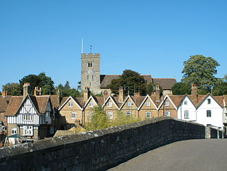 Aylesford - St Peter and St Paul's church sitting above the village