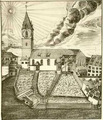 St. Peter, Zürich - St. Peter in 1700 AD