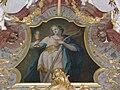 St Ulrich Schwarzwald Pfarrkirche Hochaltar Auszug Hl Barbara.jpg