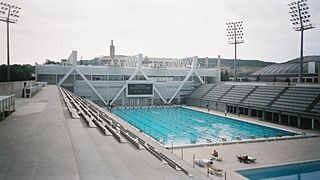 Piscines Bernat Picornell swimming stadium in Barcelona (Spain)