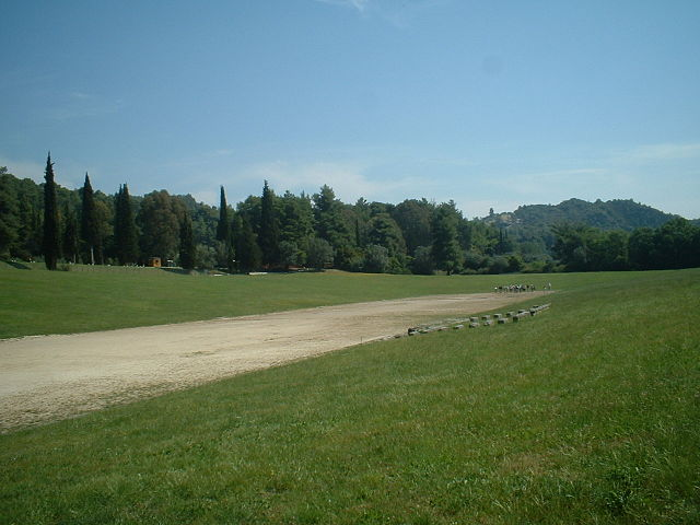 site of the original Olympic stadium - Ancient Olympic Games