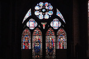 Cahors Cathedral - Stained glass windows