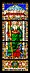 Stained glass with St. Andrew in Pazzi Chapel. Basilica Santa Croce in Florence, Italy.jpg
