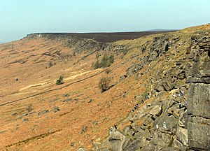Millstone Grit - Stanage Edge in the eastern Peak district