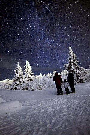 Trysil - Milkyway galaxy Trysil,Norway