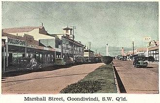 Goondiwindi - Marshall Street, circa 1945