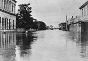 StateLibQld 1 52544 Flooding of the Mary River along Richmond Street, Maryborough, 1893