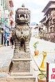 Statue of lion - Basantapur, Kathmandu Nepal-0310.jpg