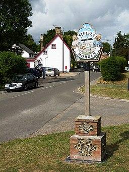 Steeple Morden village sign - geograph.org.uk - 1387891