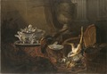 Still Life with Dead Game and a Silver Tureen on a Turkish Carpet (Jean-Baptiste Oudry) - Nationalmuseum - 17873.tif