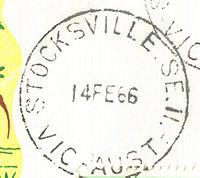 Stocksville Victoria postmark