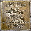 Stolperstein Albert Kayser Groninger Straße 22 0029.JPG