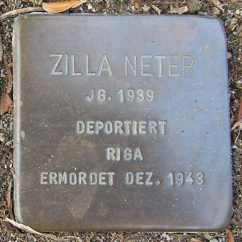 Stolperstein Bad Bentheim Dorfstraße 21 Zilla Neter