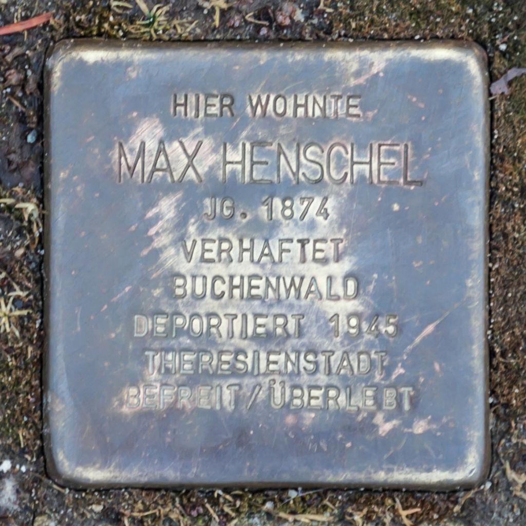 Stolperstein Bad Blankenburg Georgstraße 15 Max Henschel.jpg