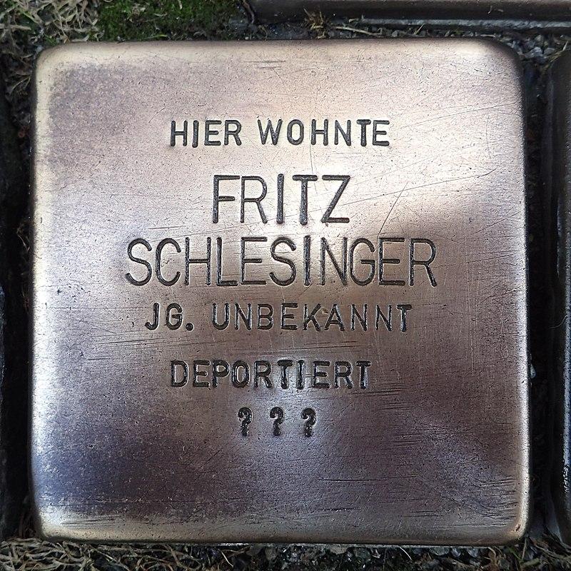 Stolperstein für Fritz Schlesinger