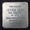 Stolperstein Duisburger Str 19 (Wilmd) Hertha Levy.jpg