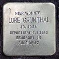 Stolperstein Duisburger Str 19 (Wilmd) Lore Grünthal.jpg