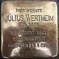 Stolperstein Gießen Liebigstraße 76 Julius Wertheim.JPG