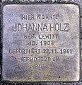 Stolperstein Holsteinische Str 34 (Fried) Johanna Holz.jpg