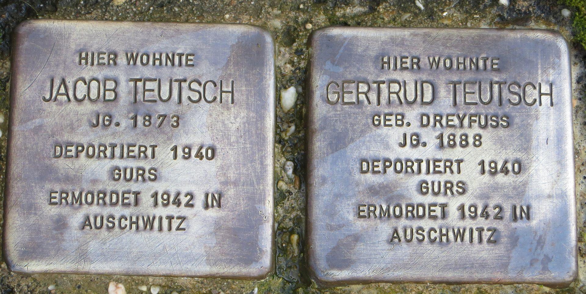 Stolperstein Jacob und Gertrud Teutsch Baden-Baden.jpg