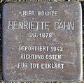 Stolperstein Köln, Henriette Cahn (Hauptstraße 22).jpg