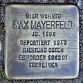 Stolperstein Max Mayerfeld (Griedeler Str.31 Butzbach).jpg