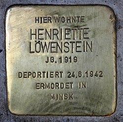 Stolperstein trautenaustr 20 21 (wilmd) henriette löwenstein