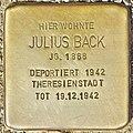 Stolperstein für Julius Back (Potsdam).jpg