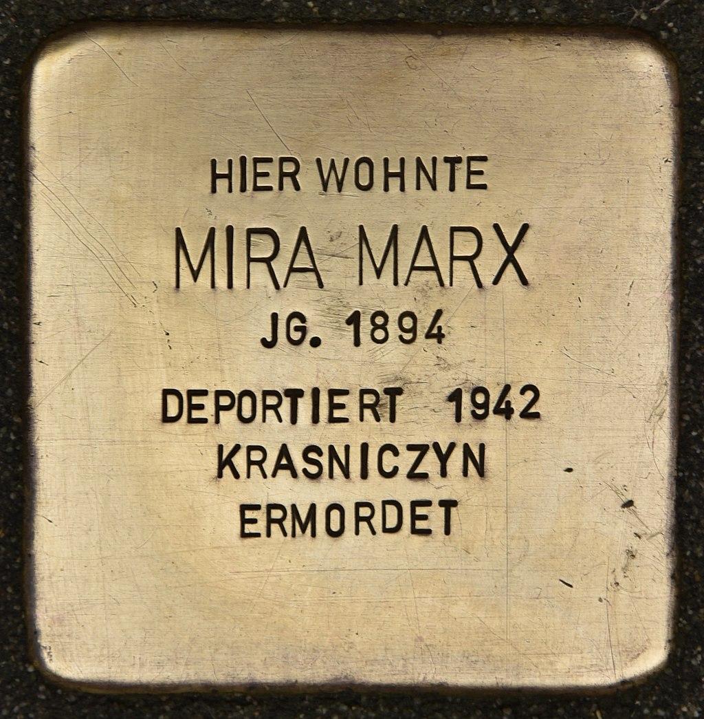 Stolperstein für Mira Marx (Miltenberg).jpg