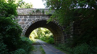 Washington & Old Dominion Railroad Regional Park - Image: Stone Bridge Clarkes Gap