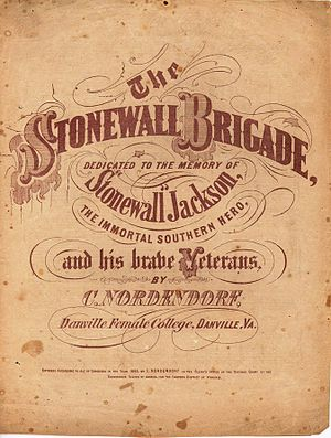 "English: Sheet music entitled ""The Stonew..."