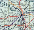 Stouffer's Railroad Map of Kansas 1915-1918 Sedgwick County.png