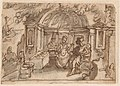 Stradanus - Ulysses and Calypso Seated in a Half-Domed Pavilion, a Ship in the Distance.jpeg