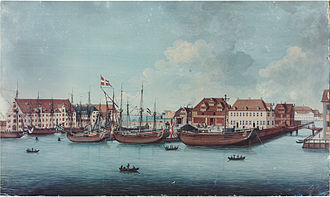 Wilders Plads - Wilders Plads with Wilder Warehouse seen from Bremerholm in 1776