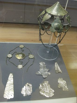 Stony Stratford - Part of the Stony Stratford Hoard, on display in the British Museum