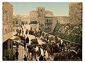 Street of the Tower of David, the bazaar, Jerusalem, Holy Land-LCCN2002725001.jpg