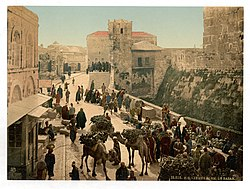 Street of the Tower of David, the bazaar, Jerusalem, Holy Land-LCCN2002725001.jpg