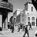Street scene showing Barclay's & Mizrah bank buildings. between 1898 and 1946. matpc.10342.jpg