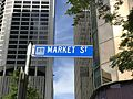 Street sign of Market Street, Brisbane, Queensland.jpg
