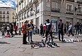 Street vendors at Puerta del Sol, Madrid, Spain (PPL3-Altered) julesvernex2.jpg